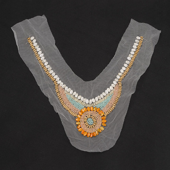 16b6121f3d Wholesale Indian Style Bead Pearl Neck Trim Sew On Neck Collar For Garment  - Buy Sew On Neck Trim,Handmade Applique Neck Trim,Beaded Collar Neck Trim  ...