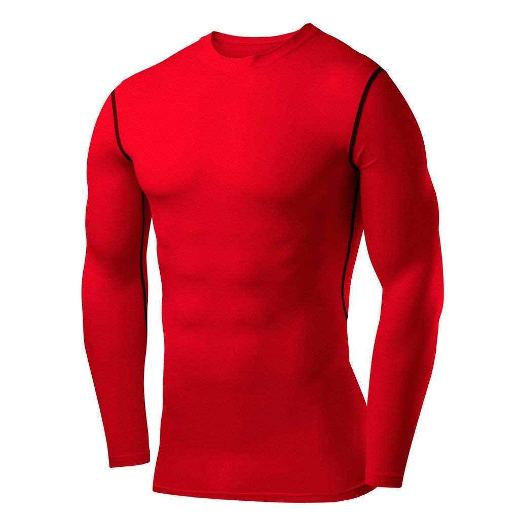 e68dc3ba739 Get Quotations · PowerLayer Men s   Boy s Compression Shirt Base Layer Top  Long Sleeve Thermal ...