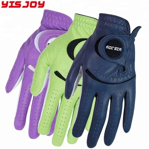 YISJOY Professional Customized Hot golf gloves Blue Purple Green Golf Gloves Men Women