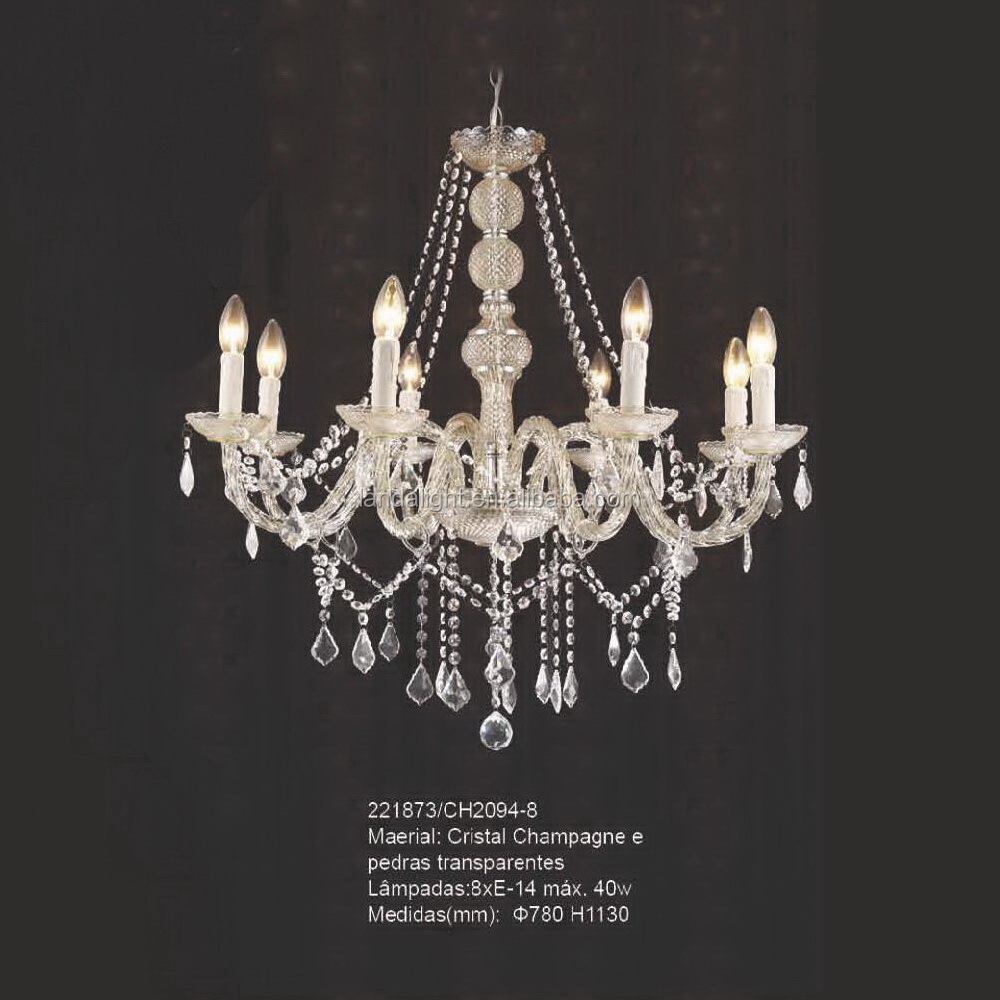 Traditional Glass Suspension Crystal Chandelier For Interior ...