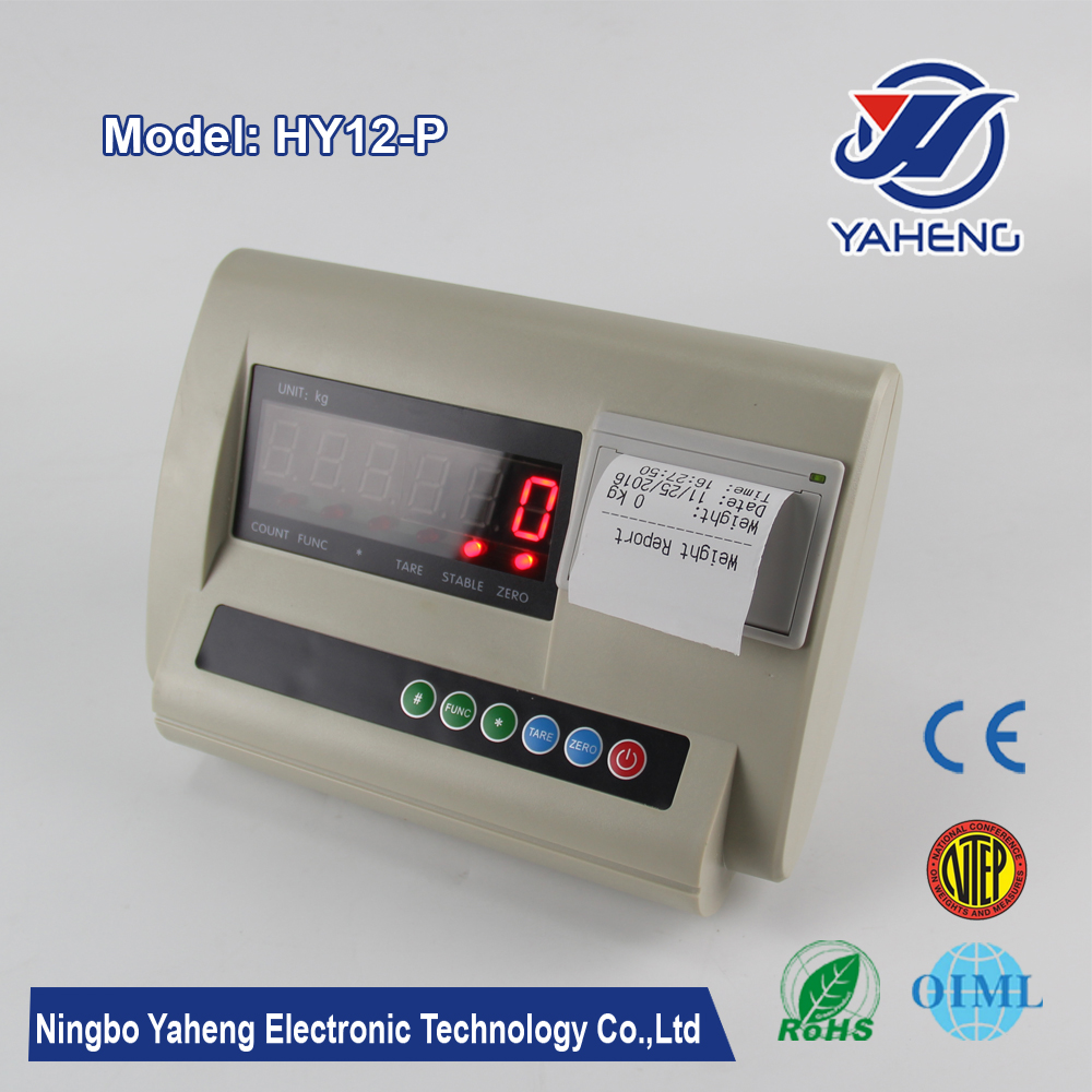 HY12P weighing indicator new desk indicator with printer sales faster digital weighing indicator Made in China