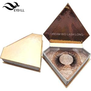 Manufacture Customized Eyelash Packaging Box Glitter