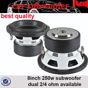 8 Inch Mini Subwoofer For Car 8 Ohm 250w Rms Portable Subwoofer