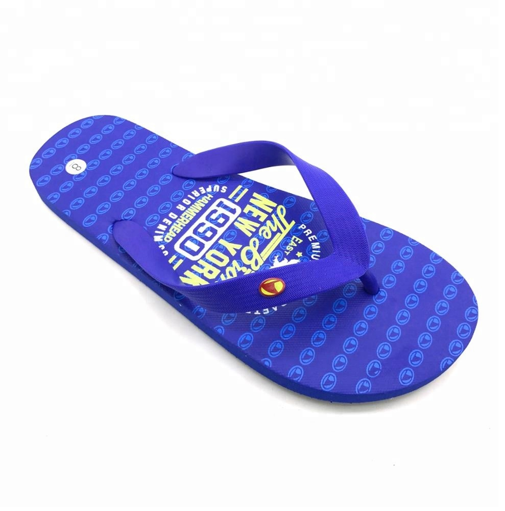 The most popular wholesale flat sandals shoes personalized high quality cutomise flip flop made pe <strong>slippers</strong> for mens