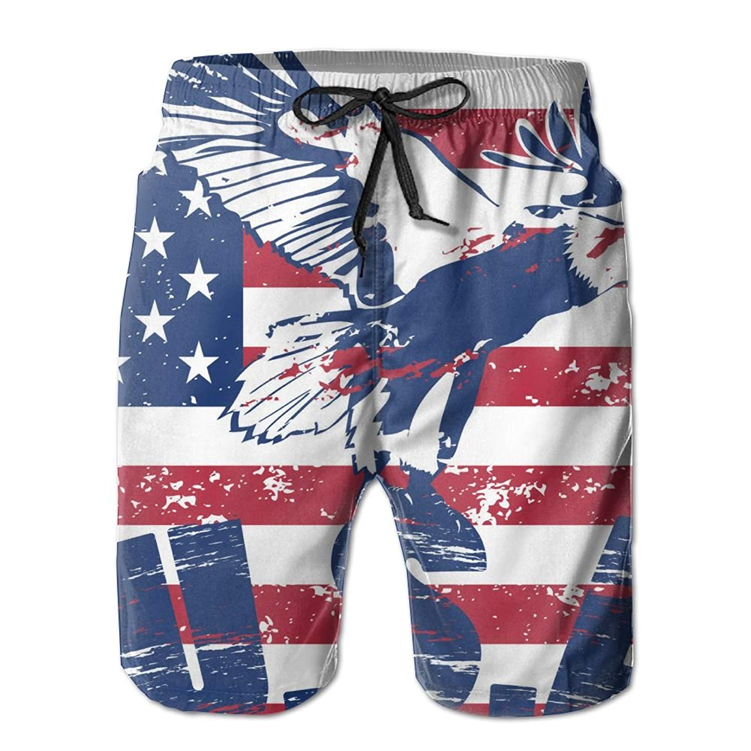 29b94b2fbf Get Quotations · Beach Volleyball Shorts, Vintage American Flag Eagle Beach  Coverup Shorts for Men Boys, Outdoor
