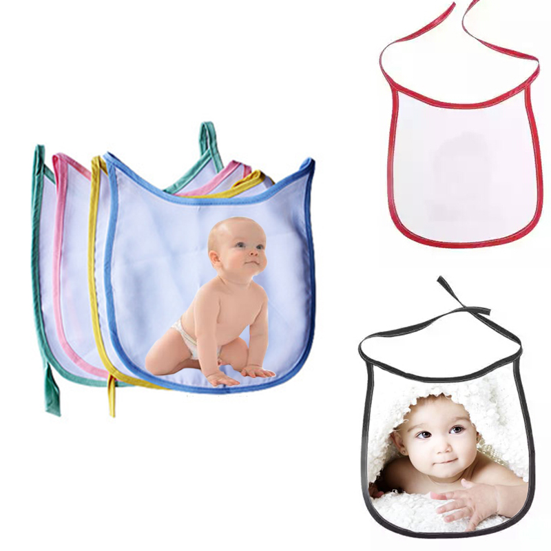 sublimation blanks polyester baby bibs for heat press transfer paper machine customize logo printing