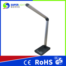 Black Silver Aluminum LED Desk Lamp Color Temperature Change USB Port