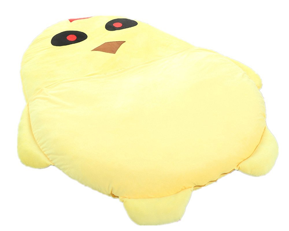 Norson Cute Cartoon Yellow Chick Sleeping Bag, Super Soft Tatami Sofa Bed Twin Bed Double Bed Mattress for Kids Children's Bed (200CM * 140CM(78 * 55in))