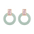 BLE-965 Xuping wholesale women jewelry circle shaped pendant acrylic earrings