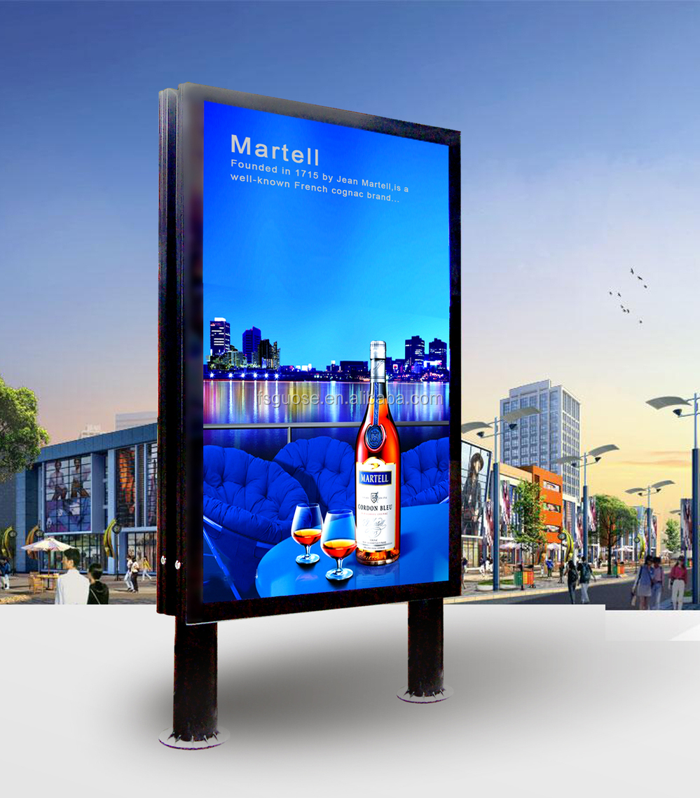 Light Frame Tempered Glass Panel Illuminated Advertising