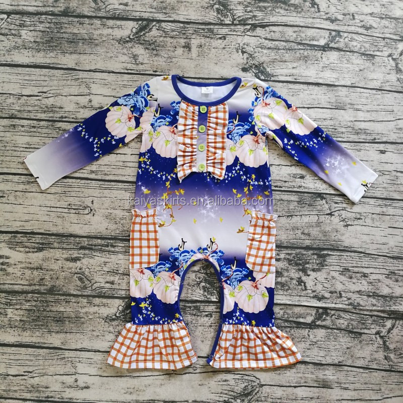 Wholesale Baby Girl Clothing Organic Cotton Halloween Romper