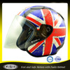 Vintage England flag Anti-scratch snell open face motocross helmet