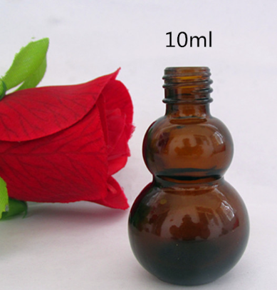 20ml 1/3oz amber glass boston round essential oil bottle,electronic cigarettes oil vial with 18mm neck black temper evident cap