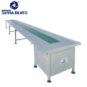 Stainless Steel Can Conveyor System/Roller Conveyor Table/Tempered Glass Table Top Chain Conveyor