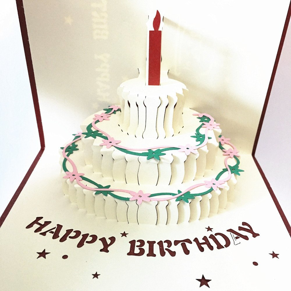 Buy Pop Up Birthday Cake Card Funny 3d Greeting Card For Child In
