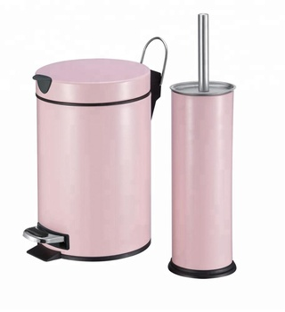 Waste Bin With Toilet Brush Holder