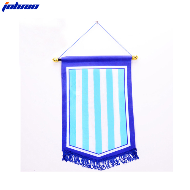 wholesale high quality cheap custom made logo national football pennant exchange flag