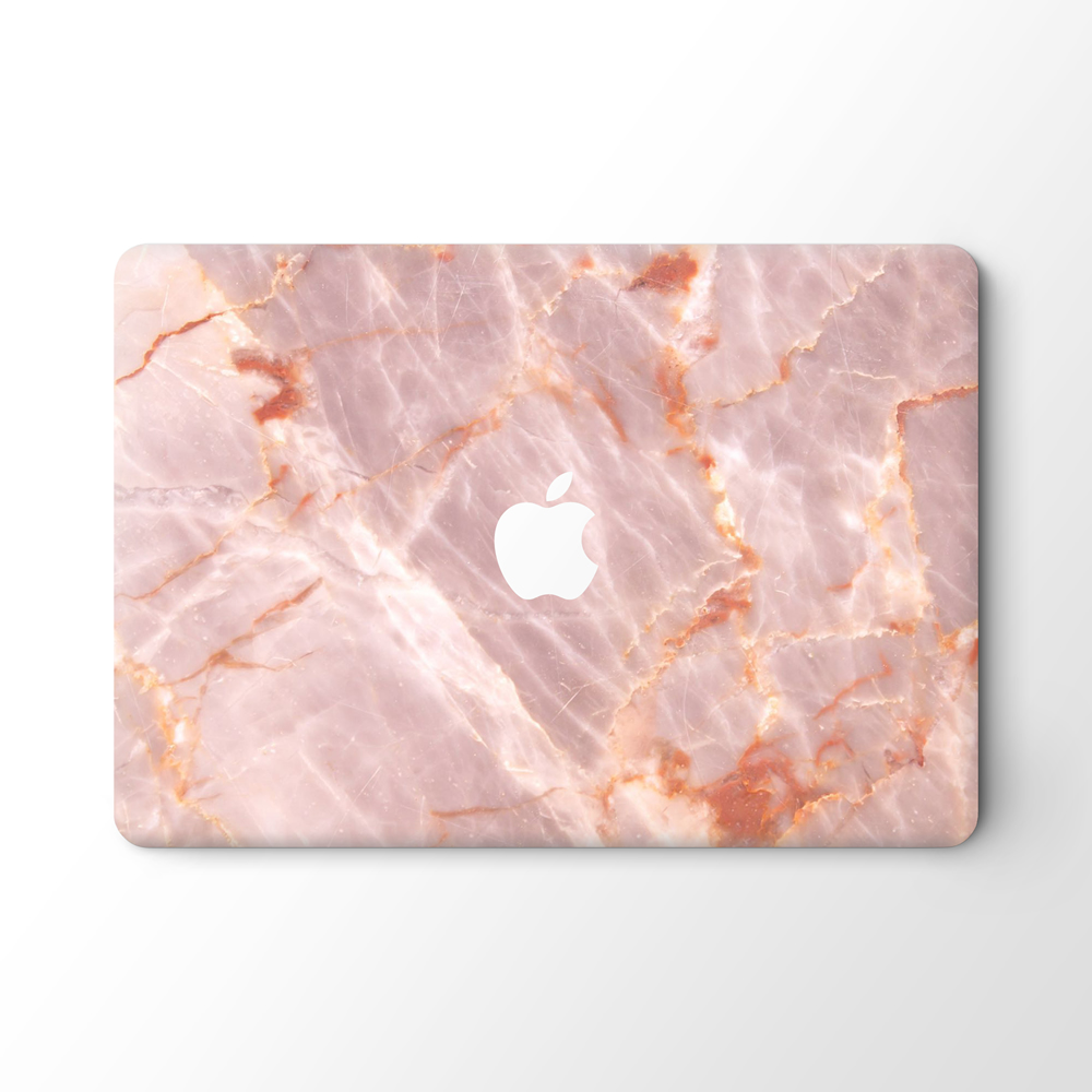 Custom Pink Marble Stickers for Macbook Decal Skin for Women Girls