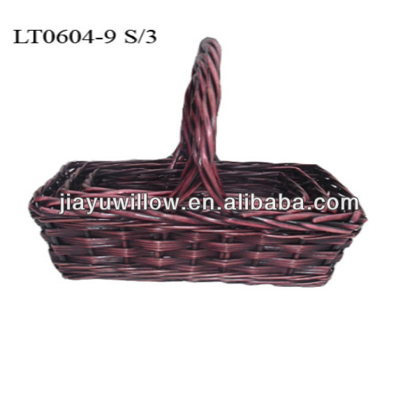 Wholesale cheap handmade woven fabric basket vintage gift baskets