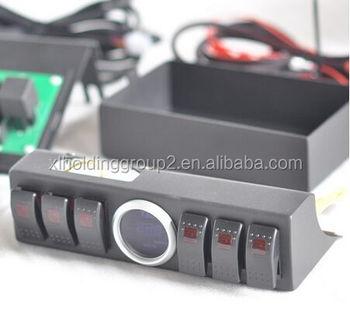 voor jeep wrangler auto led verlichting controle systeem rocker schakelpaneel 6 tuimelschakelaar