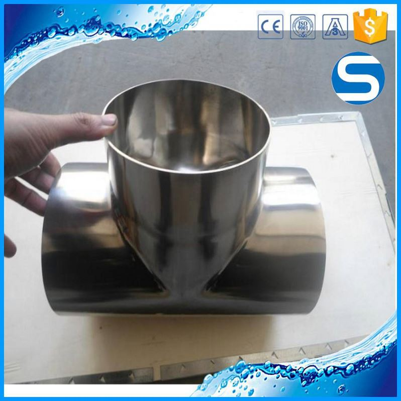 316 welded pipe fittings sanitary stainless steel fittings long tee