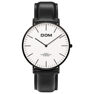 Custom fashion minimalist wrist watch,alloy back watch waterproof men watch