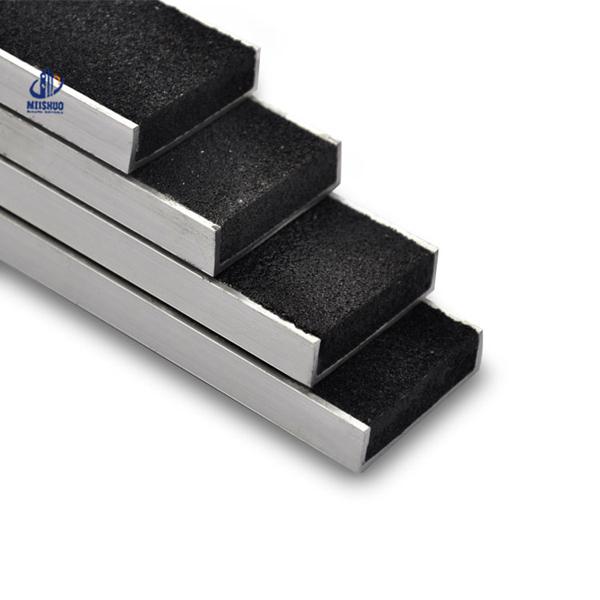 Anti Slip Aluminum Exterior Stair Nosing For Tile Flooring