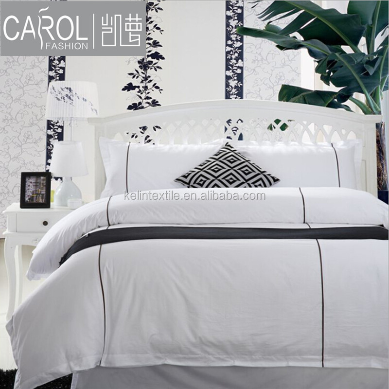 hotel bed linen set king size bed cover set satin silk 60*60s 350TC