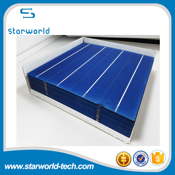 Good quality poly solar cell, competitive price 156x156 polycrystalline solar cell
