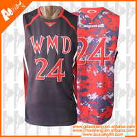 custom reversible cheap youth basketball uniform with LOGO and number