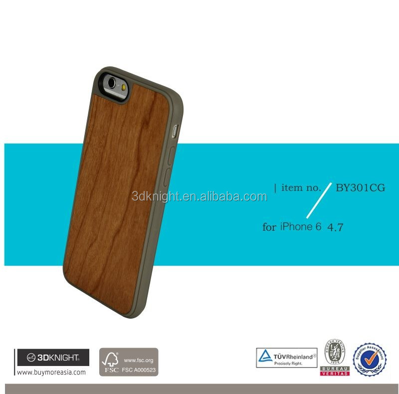 2016 Hard Plastic case for iphone 6 plus for iPhone 6 case, for iphone case wholesale, for iphone 6 case TPU real wood bamboo