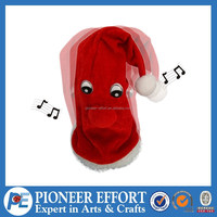 2015 christmas decoration fabric singing and dancing hat musical christmas toys