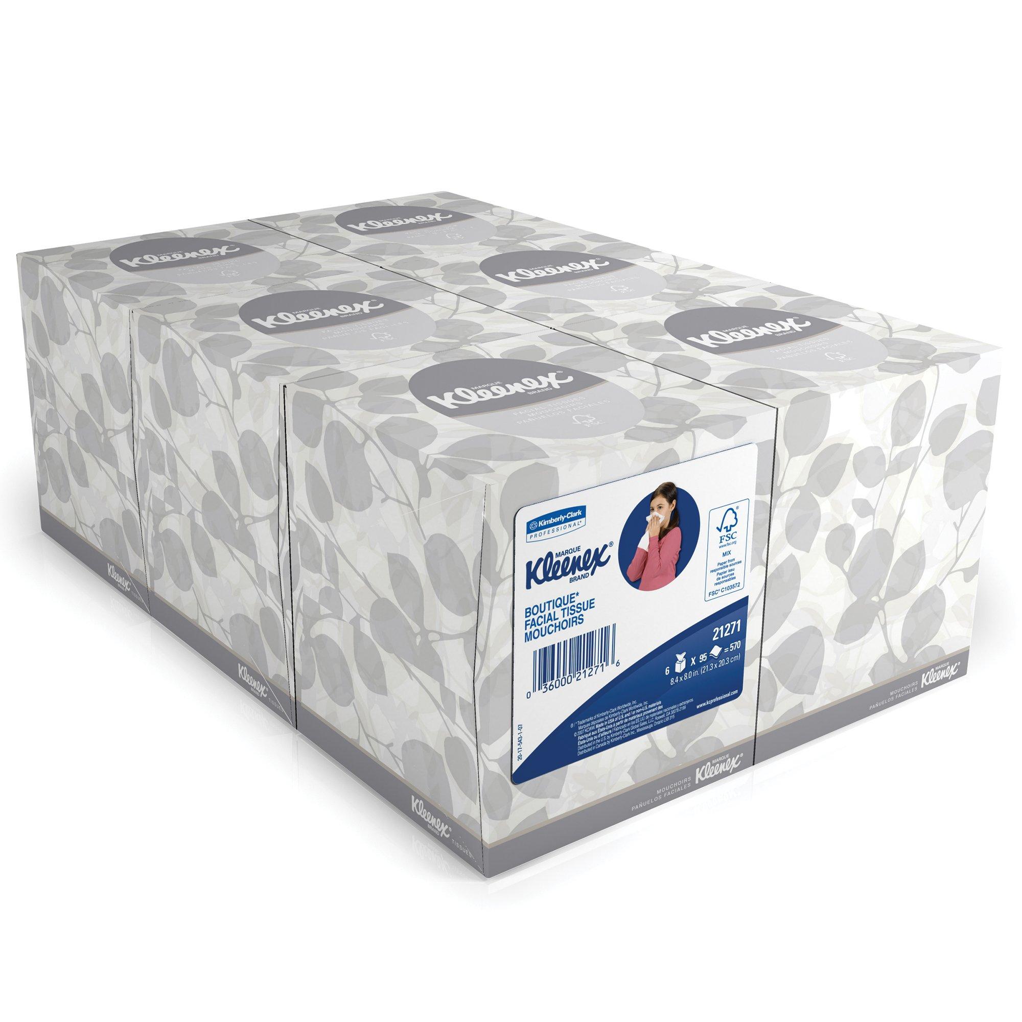 Kleenex Professional Facial Tissue Cube for Business (21271), Upright Face Tissue Box, 6 Bundles/Case, 6 Boxes/Bundle, 36 Boxes/Case