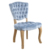 Modern Fabric wooden dining chair