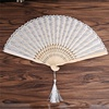 2014 New Design Promotional Japanese Hand Painted Bamboo Paper Fan