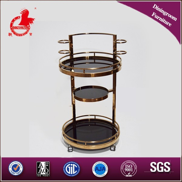 2015 Traditional living room furniture black tea hand trolley