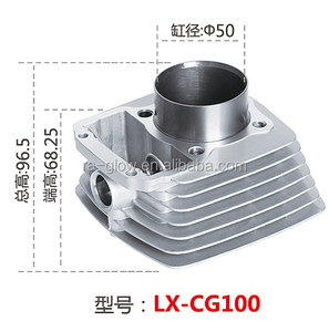 2018 longxing CG100 motorcycle cylinder liner for longxing motorcycle .