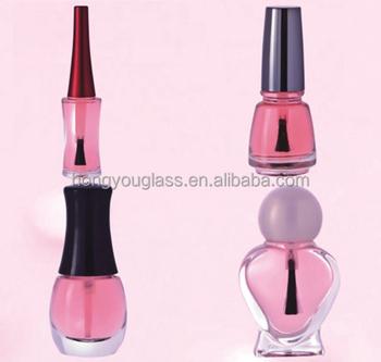 New Design 10ml Heart Shape Glass Nail Polish Bottle Manufacturer ...