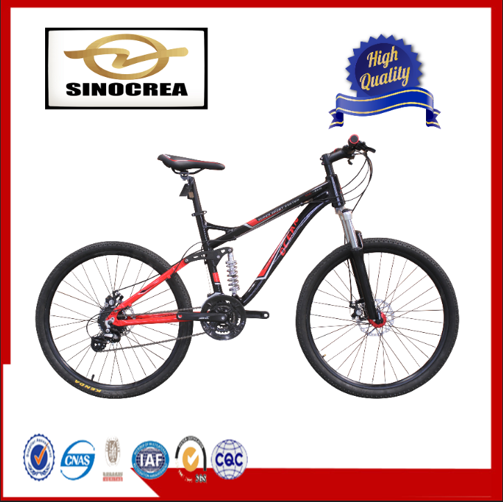 "FULL SUSPENSION 26"" HIGH GUARANTEE WHOLE SALE PRICE 24 SP CHINA MOUNTAIN BIKE WITH OEM"