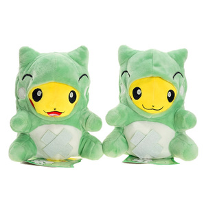 Best-selling new arrival pp Pikachu Cosplay green Dragon cloak plush toy