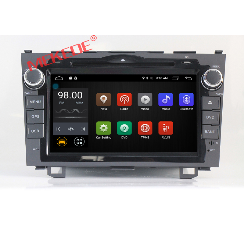 Factory price 8 inch Android 7.1 CAR DVD GPS navi audio for Honda CRV 2006 2007 2008 2009 2010 2011 with dvd player 4G WIFI BT