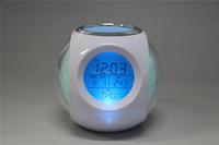 Cheap round plastic LED digit pen holder pen stand