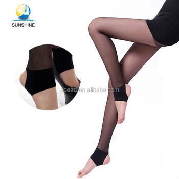 c4fb5e7d6 Black and skin color pantyhose sheer to waist nylon trample feet pantyhose