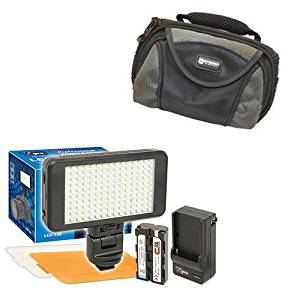 Canon VIXIA HF R700 Camcorder Lighting Vidpro Ultra-Slim LED-230 Video and Photo LED Light Kit- With SDC-26 Case
