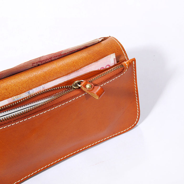 Genuine Leather Wallet with Coin Pocket inside 100% the first lady wallet handbag