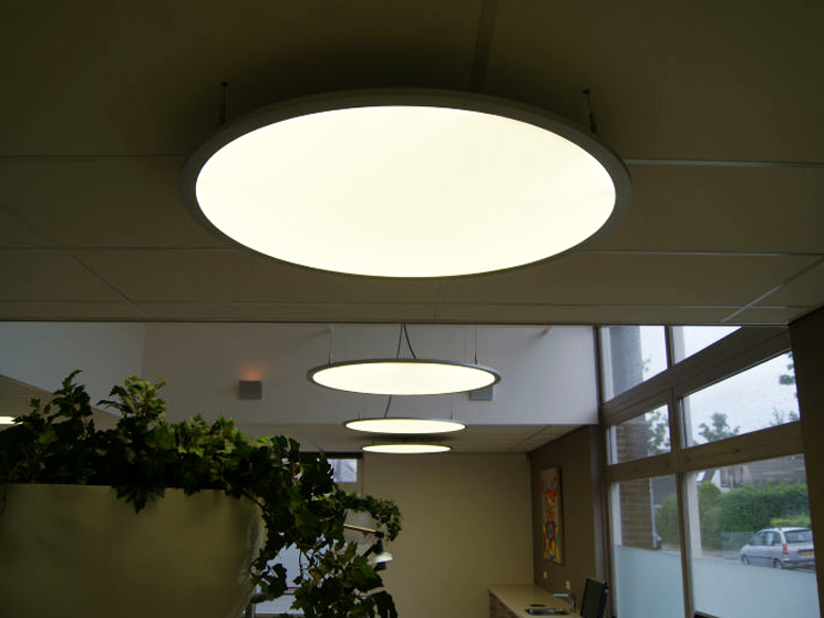 Large 800mm round 18 watt etl led panel film light glass price lamp roof specification material