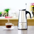 Stainless Steel Espresso Maker Kitchen Drip Kettle Tea Pot Moka Coffee Pot Coffee Extractor 100/200/300/450ml