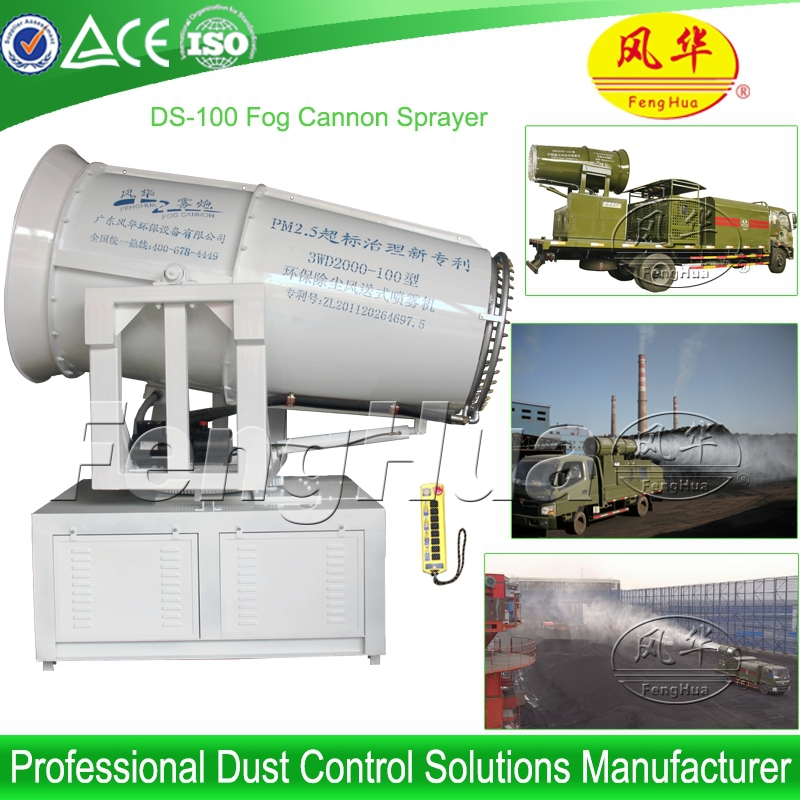 High Pressure Misting Systems : Fog cannon high pressure misting system dust dontrol water