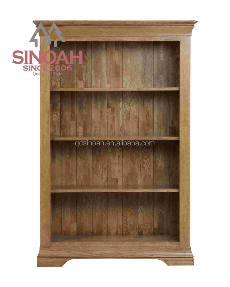 Eiken meubelen woonkamer houten moderne smalle ondiepe boekenkast ...