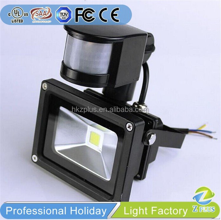 Aluminum Black frame outdoor pir sensor led light